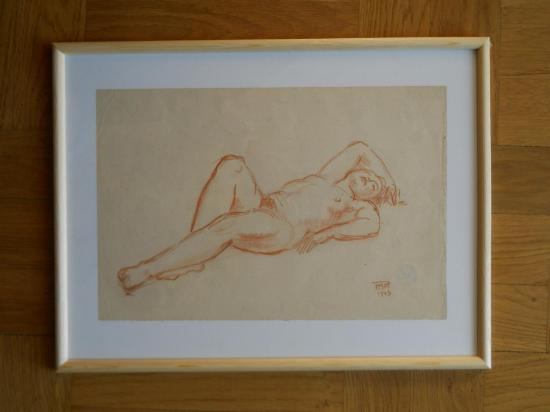 Dessin femme nue allonge e 2