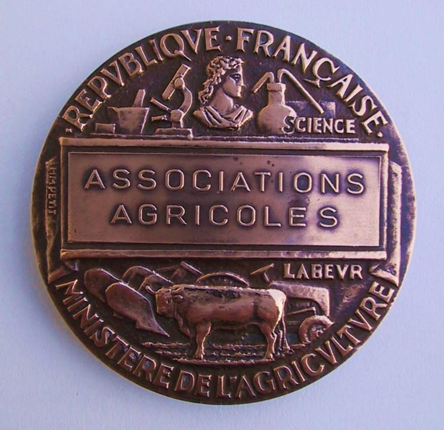 Medaille des associations agricoles dos rogn copie